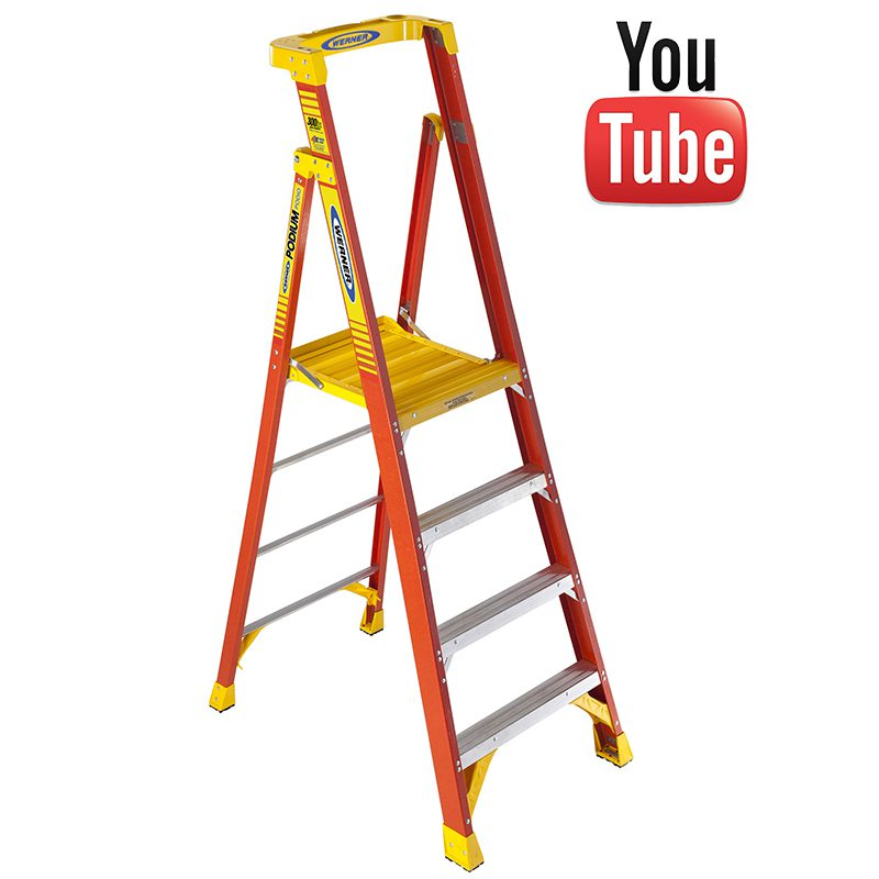 Pleasing Werner Fibreglass Podium Step Ladder Alphanode Cool Chair Designs And Ideas Alphanodeonline