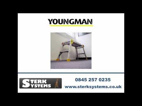 Youngman Odd Job Platform Step Ladder - 310898 Workbench