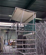 Weather protection system (Artilan) Scaffold tower